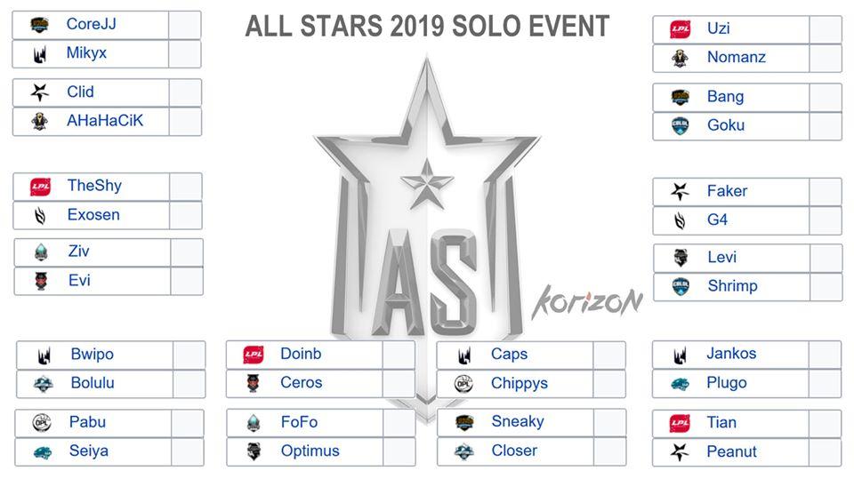 Lịch thi đấu All Star 2019