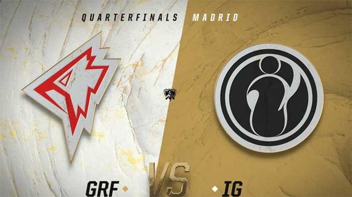 Kết quả tứ kết giữa IG và GRF
