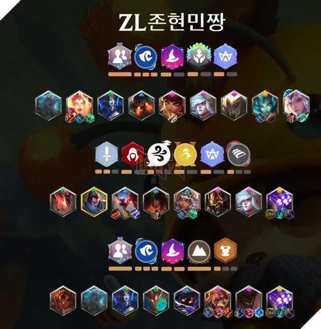 Đội hình DTCL top 2 Sever Hàn Quốc
