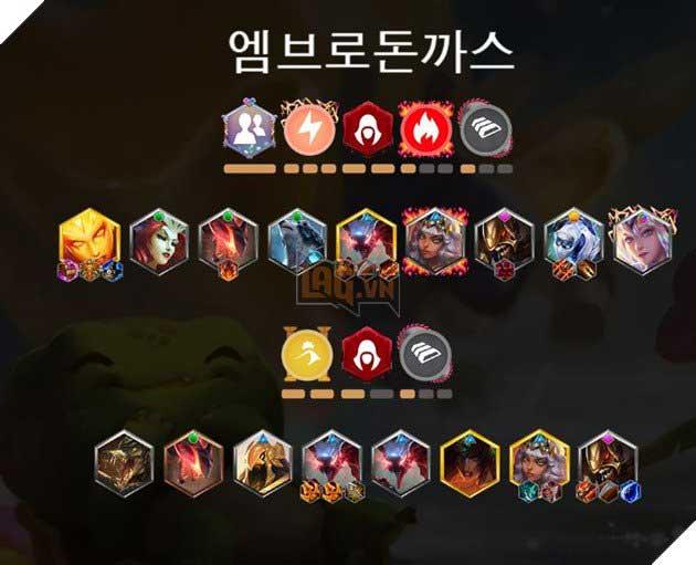 Đội hình DTCL top 4 Sever Hàn Quốc
