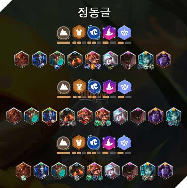 Đội hình DTCL top 3 Sever Hàn Quốc