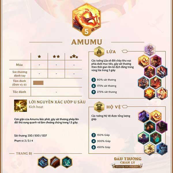 Chi tiết tướng Amumu tại DTCL 9.24