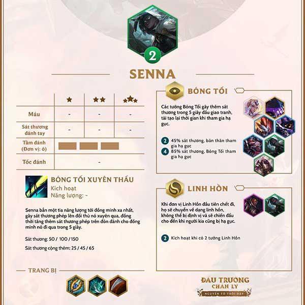 Build Đội Hình và Cách Lên Đồ Senna DTCL mùa 2