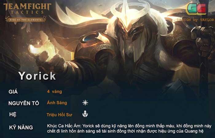 Yorick, Lux hoặc AAtrox là con bài chủ chốt của đội hình ánh sáng