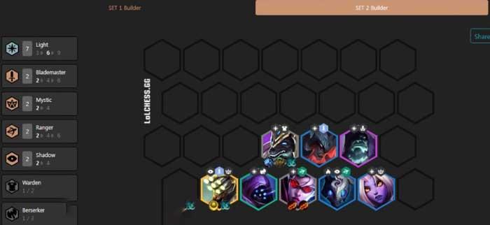 Giữa game đội hình triệu hồi ánh sáng DTCL