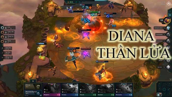 Hướng dẫn lên đồ Diana DTCL tộc lửa.
