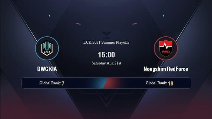 DW vs NS Bán Kết Playoff LCK